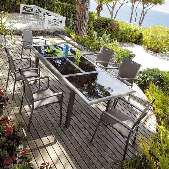 Salon de Jardin Azua Mastic - 7 pièces - Salon de jardin repas et ...