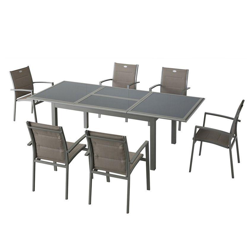 Fauteuil de jardin empilable azua mastic chaise et for Salon de jardin azua hesperide