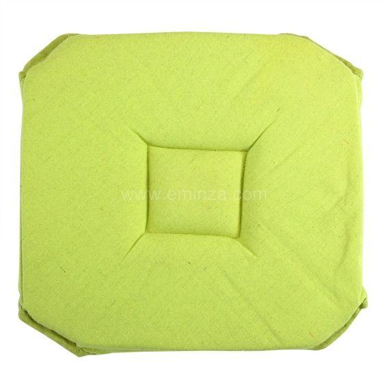 Galette de chaise carr e ethique vert anis galette et for Galette de chaise avec rabat