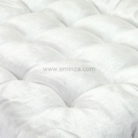 Coussin de chaise carr luxe blanc galette et coussin de - Galette de chaise blanc ...
