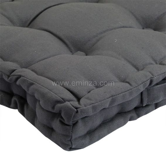 coussin de sol 40 cm gris anthracite coussin de sol et pouf eminza. Black Bedroom Furniture Sets. Home Design Ideas