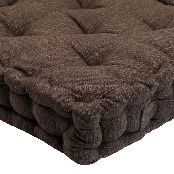 coussin de sol chocolat clair coussin de sol et pouf. Black Bedroom Furniture Sets. Home Design Ideas