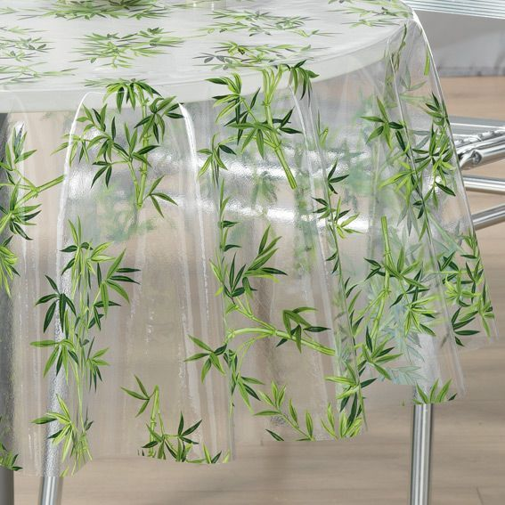 nappe cir e ronde d140 cm bambou cristal linge de table eminza. Black Bedroom Furniture Sets. Home Design Ideas