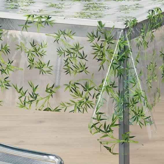 nappe cir e rectangulaire l240 cm bambou cristal linge. Black Bedroom Furniture Sets. Home Design Ideas