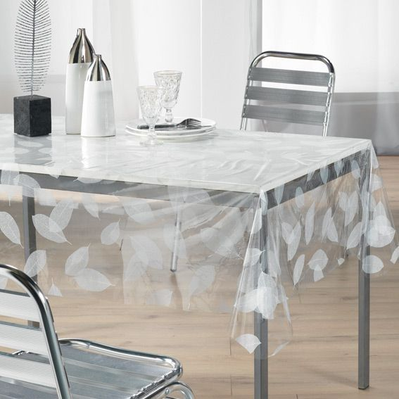 nappe cir e rectangulaire l240 cm feuille cristal linge de table eminza. Black Bedroom Furniture Sets. Home Design Ideas