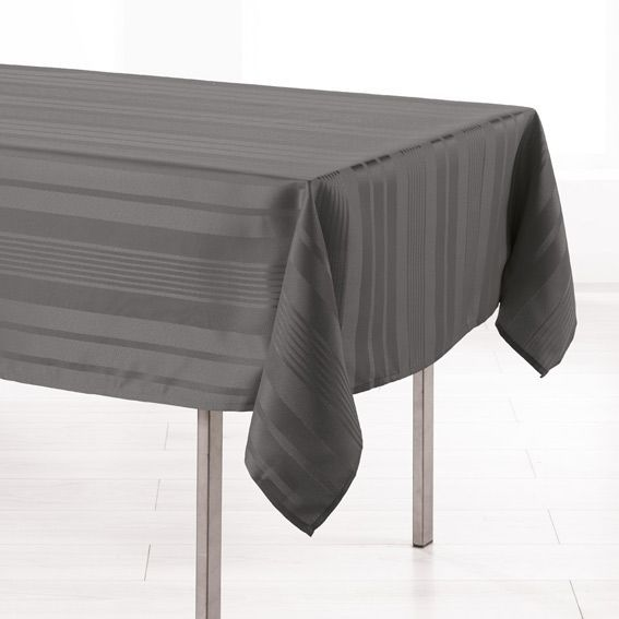 nappe rectangulaire l300 cm smart jacquard anthracite. Black Bedroom Furniture Sets. Home Design Ideas