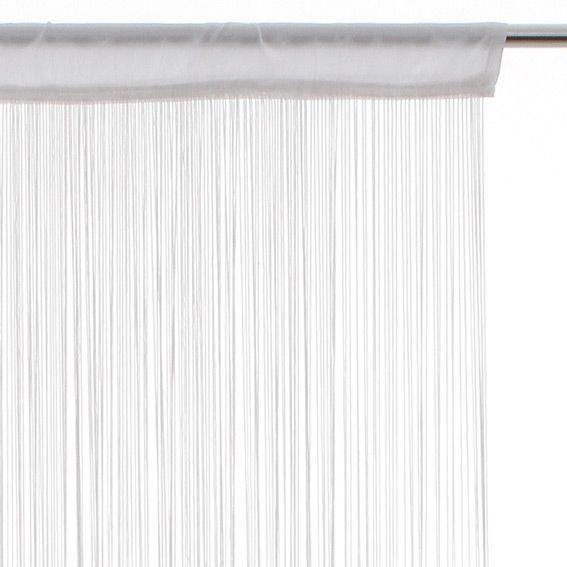 rideau de fil 120 x h240 cm uni blanc rideau de porte. Black Bedroom Furniture Sets. Home Design Ideas