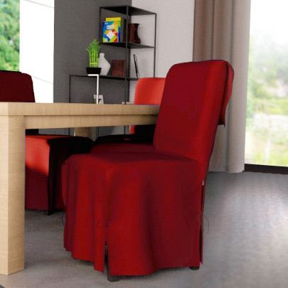 housse de chaise contemporaine rouge housse de chaise eminza. Black Bedroom Furniture Sets. Home Design Ideas
