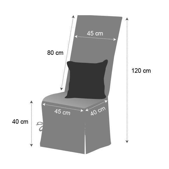 housse de chaise contemporaine ecru housse de chaise eminza. Black Bedroom Furniture Sets. Home Design Ideas