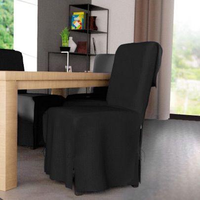 housse de chaise contemporaine noir housse de chaise eminza. Black Bedroom Furniture Sets. Home Design Ideas