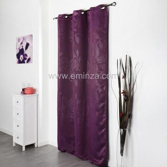 rideau de couleur aubergine photo. Black Bedroom Furniture Sets. Home Design Ideas