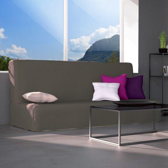 housse de clic clac contemporaine taupe housse de clic clac bz eminza. Black Bedroom Furniture Sets. Home Design Ideas
