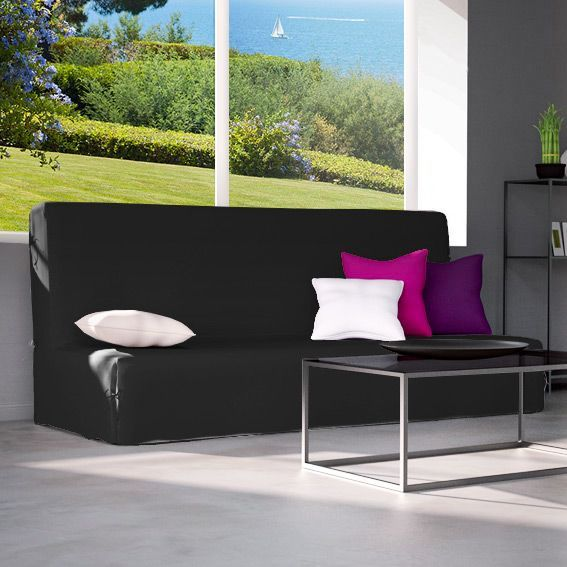 housse de clic clac contemporaine noir housse de clic clac bz eminza. Black Bedroom Furniture Sets. Home Design Ideas