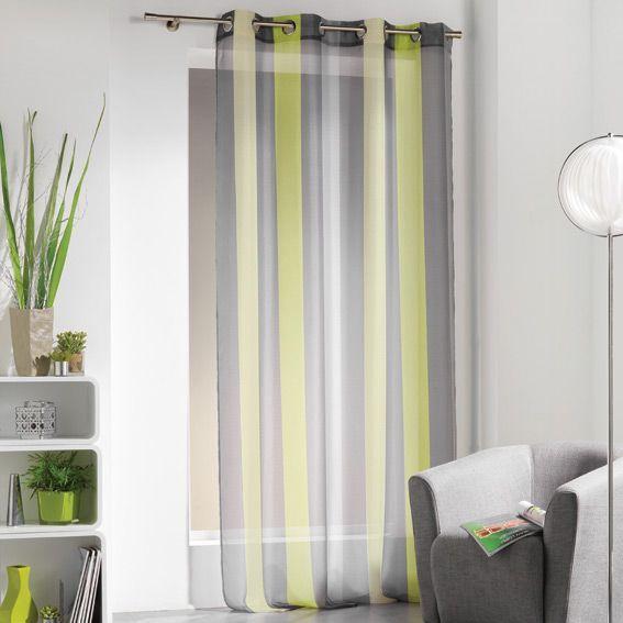 Salon Couleur Tessu Grège : Rideau de couleur vert gris photo