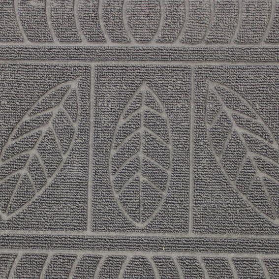 tapis d 39 entr e demi lune feuilles gris tapis pour la maison eminza. Black Bedroom Furniture Sets. Home Design Ideas
