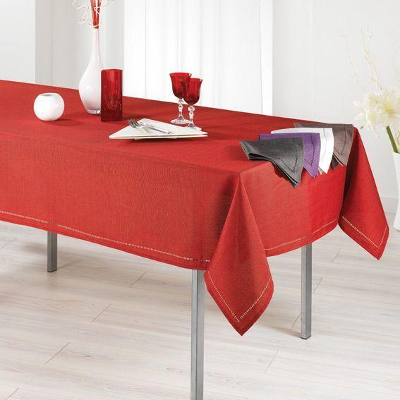 Nappe rectangulaire l240 cm elegance rouge nappe de - Nappe table rectangulaire ...