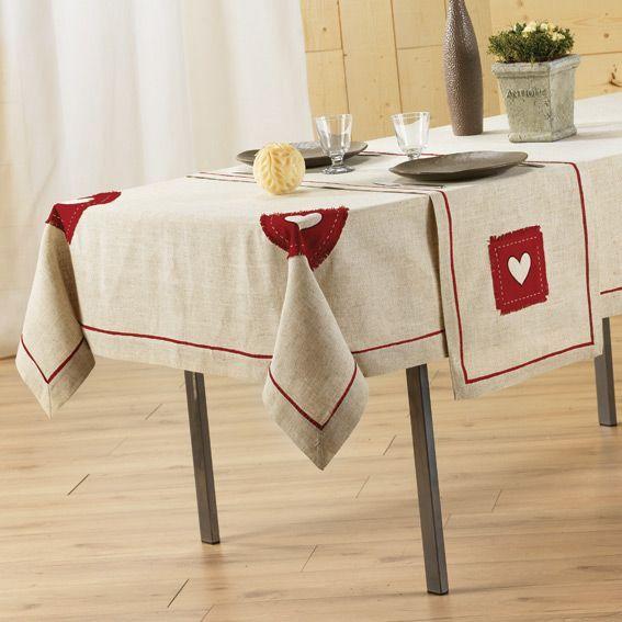 nappe rectangulaire l240 cm mont blanc brod lin nappe de table eminza. Black Bedroom Furniture Sets. Home Design Ideas