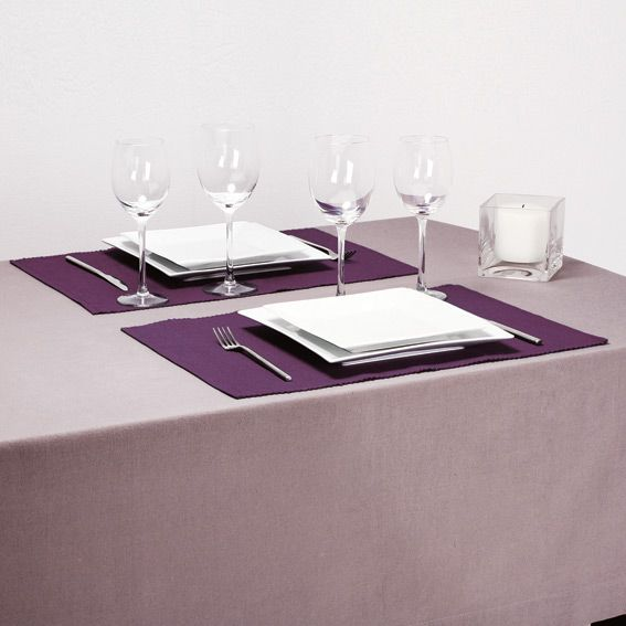 Set de table violet cotel set de table eminza for Set de table violet