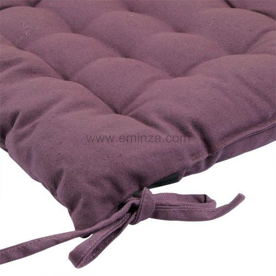 coussin de chaise violet eminza. Black Bedroom Furniture Sets. Home Design Ideas
