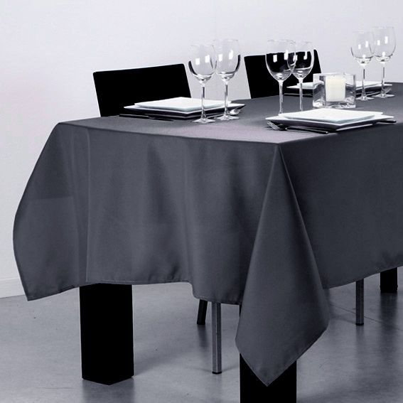 nappe rectangulaire l240 cm lina gris fonc nappe de table eminza. Black Bedroom Furniture Sets. Home Design Ideas