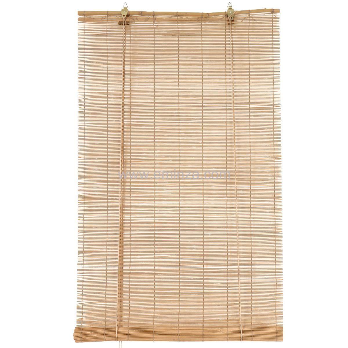 store enrouleur baguettes 40 x h130 cm bambou naturel store enrouleur eminza. Black Bedroom Furniture Sets. Home Design Ideas
