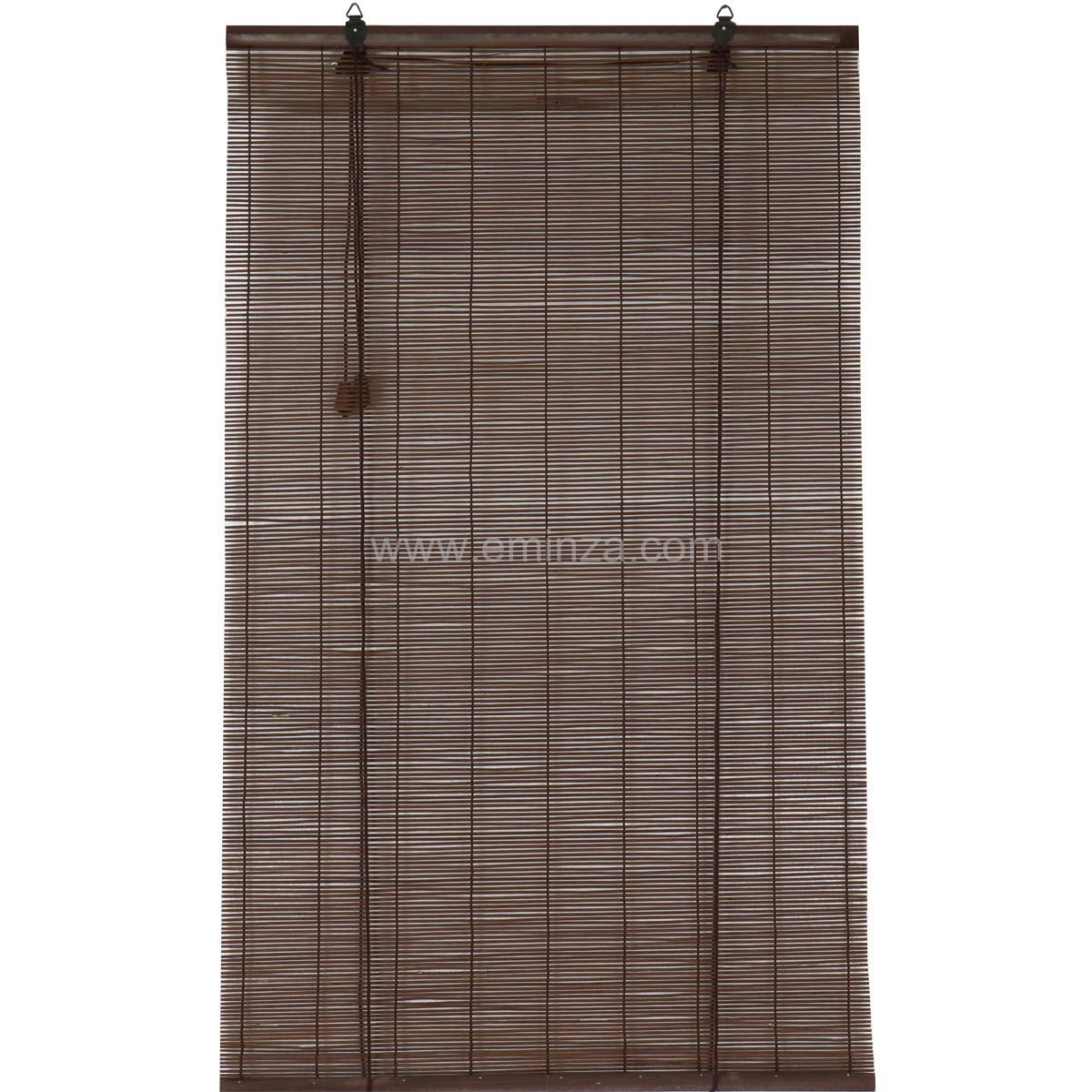 store enrouleur baguettes 60 x h130 cm bambou chocolat. Black Bedroom Furniture Sets. Home Design Ideas