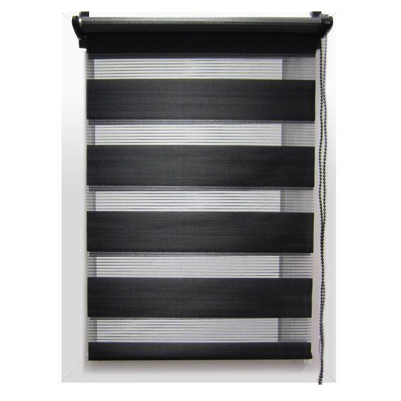 store enrouleur 45 x h180 cm jour nuit noir store. Black Bedroom Furniture Sets. Home Design Ideas
