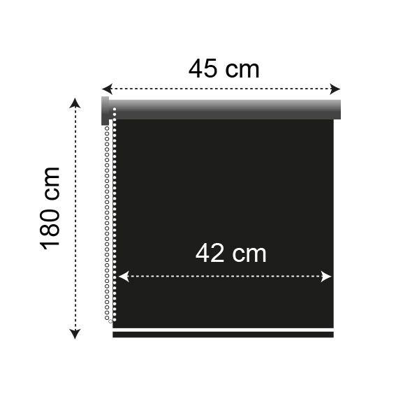 store enrouleur occultant 45 x h180 cm uni blanc store. Black Bedroom Furniture Sets. Home Design Ideas