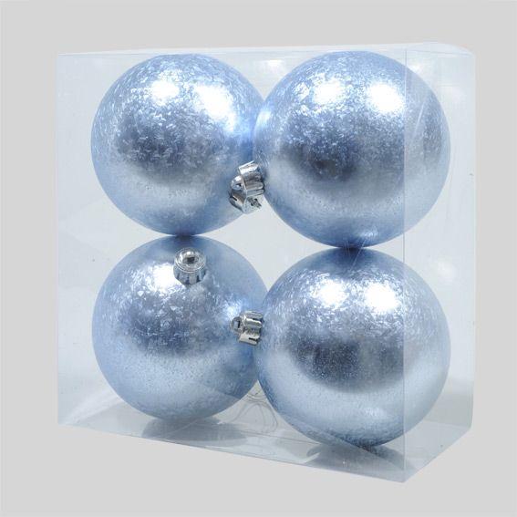lot de 4 boules de no l fazia bleu boule de no l eminza. Black Bedroom Furniture Sets. Home Design Ideas