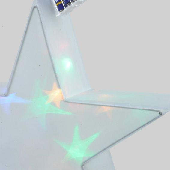 etoile lumineuse hologramme 16 led multicolore. Black Bedroom Furniture Sets. Home Design Ideas