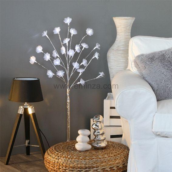 Cerisier lumineux lina h100 cm blanc froid arbre - Arbre lumineux exterieur noel ...
