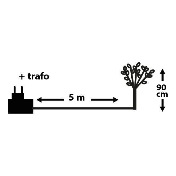 Arbre de no l lumineux rea h90 cm brun arbre lumineux - Arbre lumineux exterieur noel ...