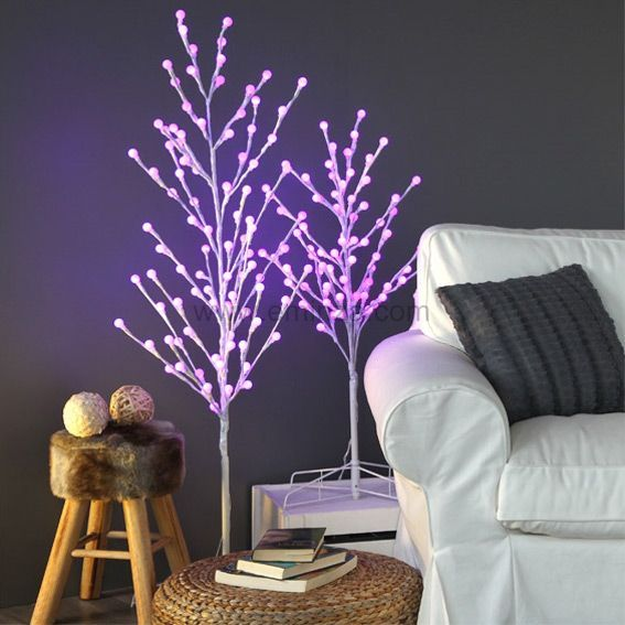 peuplier lumineux faglia h100 cm multicouleur sapin arbre eminza. Black Bedroom Furniture Sets. Home Design Ideas