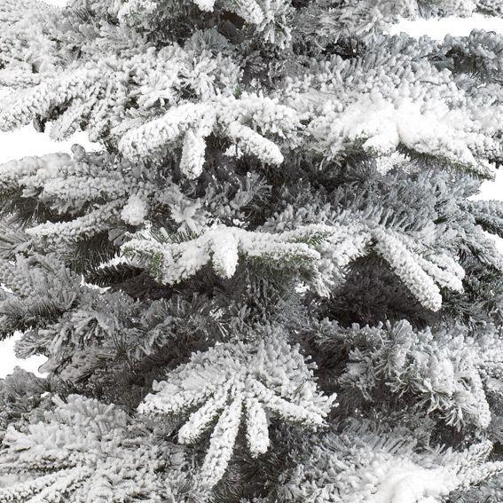 Sapin artificiel de no l alaskan h210 cm vert enneig - Decoration sapin enneige ...