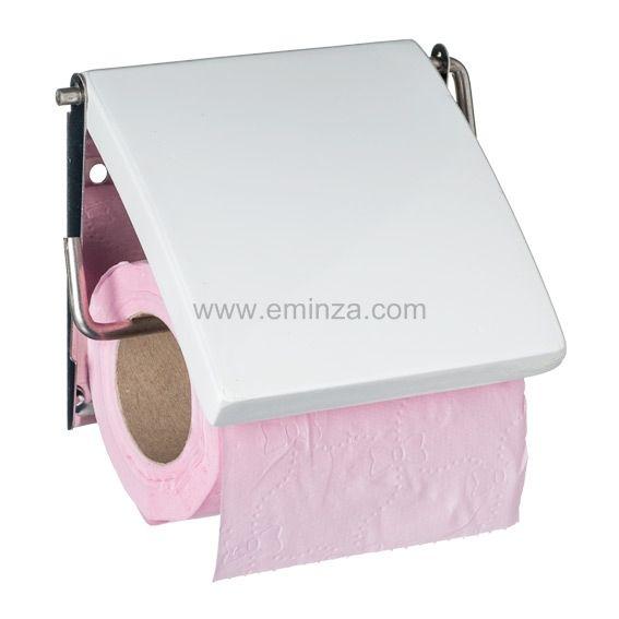 porte papier toilettes uni blanc porte papier toilette eminza. Black Bedroom Furniture Sets. Home Design Ideas