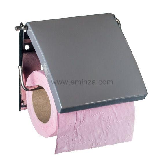porte papier toilettes uni gris porte papier toilette eminza. Black Bedroom Furniture Sets. Home Design Ideas