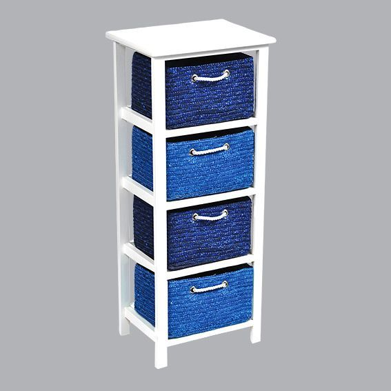 meuble panier bleu meuble d co eminza. Black Bedroom Furniture Sets. Home Design Ideas