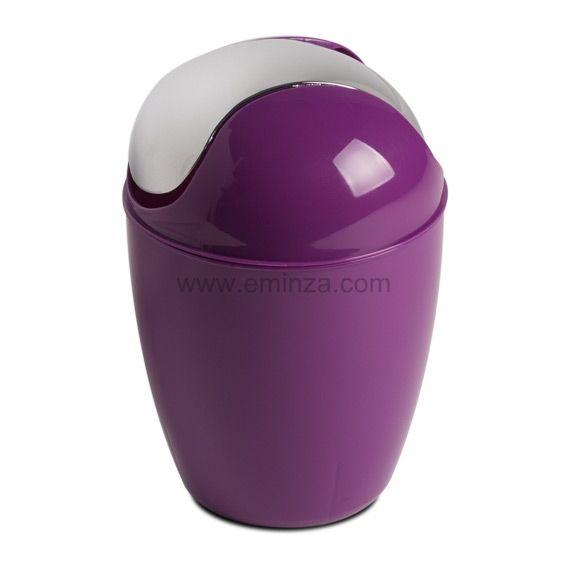 Mini poubelle happy violet poubelle eminza - Mini poubelle salle de bain ...