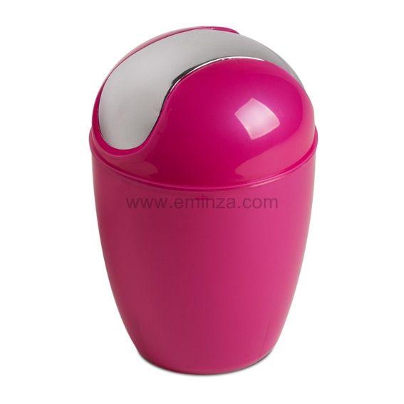 Mini poubelle happy rose poubelle eminza - Mini poubelle salle de bain ...