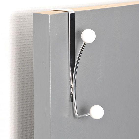 pat re suspendre 2 boules blanc pat res et crochets. Black Bedroom Furniture Sets. Home Design Ideas