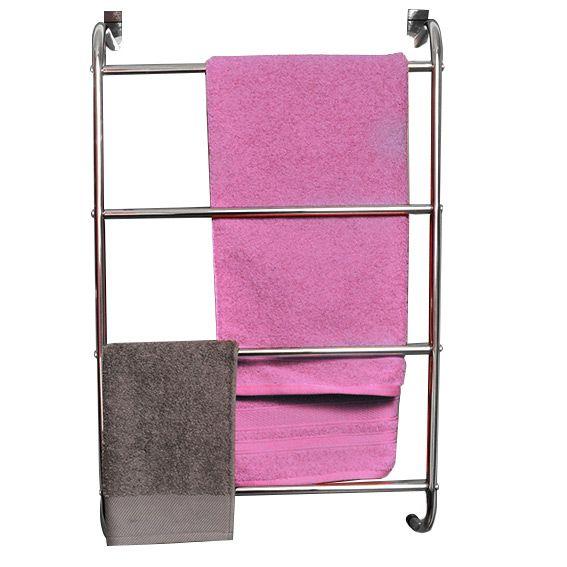 porte serviette suspendre 4 barres argent porte serviette eminza. Black Bedroom Furniture Sets. Home Design Ideas