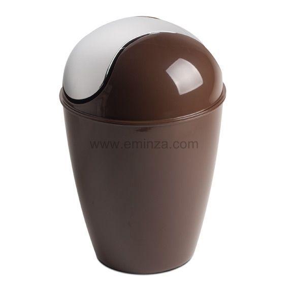 Poubelle happy chocolat poubelle eminza Sdb chocolat taupe