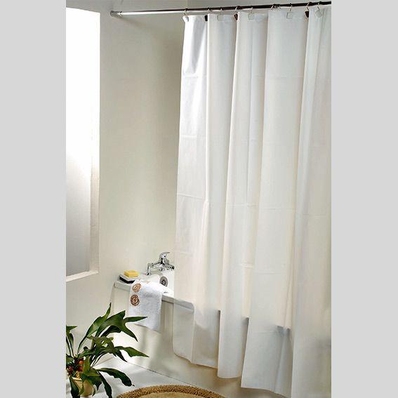 Rideau de douche plastique uni blanc rideau de douche - Rideau de douche noir et blanc ...