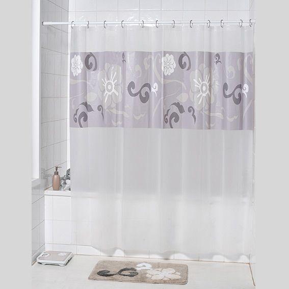 rideau de douche douceur taupe rideau de douche eminza. Black Bedroom Furniture Sets. Home Design Ideas