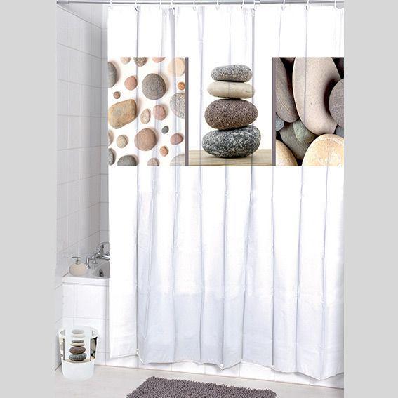 rideau de douche galet taupe premium rideau de douche. Black Bedroom Furniture Sets. Home Design Ideas