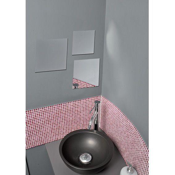 lot de 3 miroirs carr s glow miroir eminza. Black Bedroom Furniture Sets. Home Design Ideas