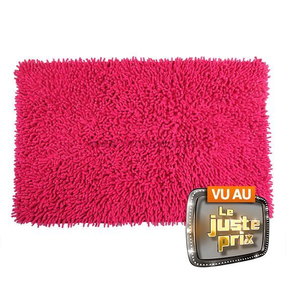 tapis de bain chenille rose tapis salle de bain eminza. Black Bedroom Furniture Sets. Home Design Ideas