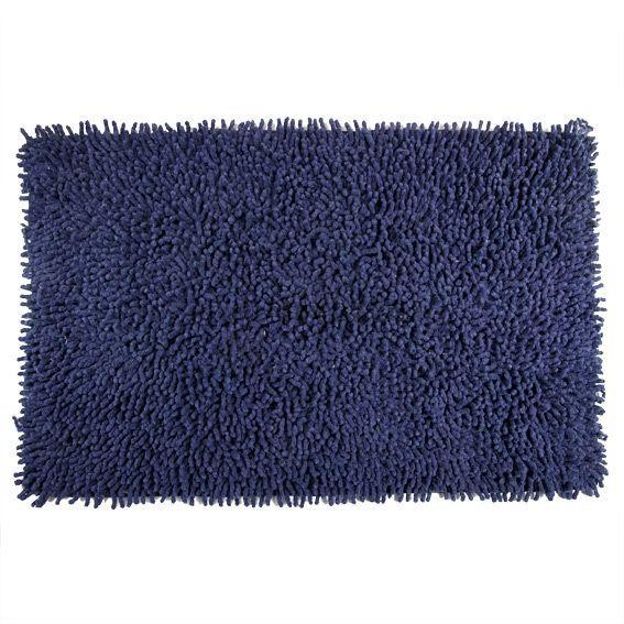 Salle De Bain Bleu Marine : Salle de Bain > Tapis de bain > Tapis de bain Chenille marine Bleu