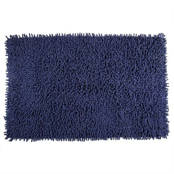 tapis de bain chenille marine bleu tapis salle de bain eminza. Black Bedroom Furniture Sets. Home Design Ideas