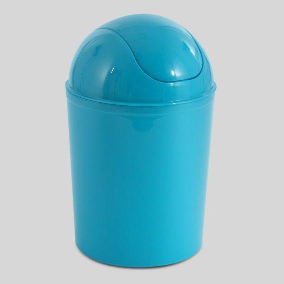 Poubelle lin o bleu poubelle eminza for Poubelle de salle de bain bleu